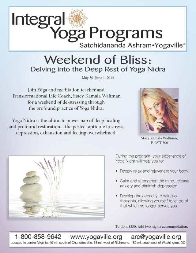 Yoga Nidra Weekend of Bliss at Yogaville with Stacy Kamala Waltman